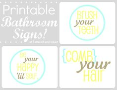 Tattered and Inked: Scaled Bathroom Art & Free Printables!