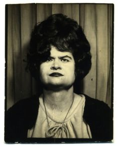 ** Vintage Photo Booth Picture **   ....  Berniece slips into a photo booth on her way to anger management class.