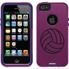Volleyball Sporting Activities design on OtterBox® Commuter Series® Case for iPhone 5 in Avonpink
