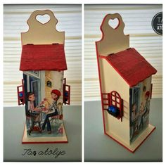 For tea bag Tole Painting, Painting On Wood, Decoupage Vintage, Country Paintings, Card Patterns, Gift Baskets, Hobbit, Bird Houses, Christmas Decorations