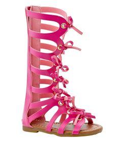 Fuchsia Shiek Lace-Up Gladiator Sandal