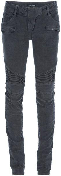Balmain Skinny jeans for Women Boho Pants, Skirt Pants, Steampunk Pants, Pants For Women, Clothes For Women, Grey Outfit, Grey Pants, Balmain, Black Jeans
