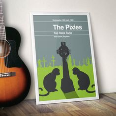 An eye-catching concert poster re-imagined in the style of a 1960's minimalist book cover.DISPLAY OPTIONS Framed and Box-Canvas options are produced by hand to the highest standard offering exceptional quality. All media has been certified by the Fine Art Trade Guild. PRINT ONLY The A3 prints are full bleed (the image goes to the edges of the paper) printed on 160gsm, recycled and uncoated art paper for a high quality finish. The A2 prints are also full bleed and printed on a heavyweight…
