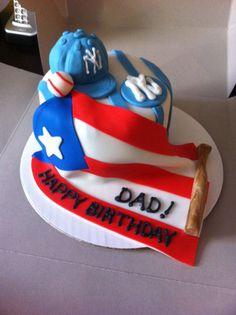Puerto Rico flag cake