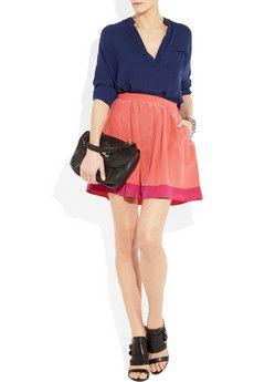Swiss-dot silk VANESSA BRUNO ATHÉ skirt Via www.zoolz.com