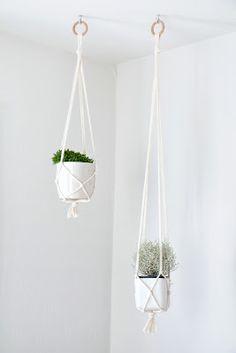 DIY tutorial hanging plant holders