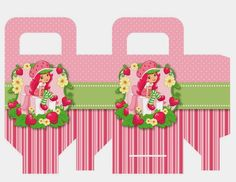 Strawberry Shortcake Free Printable Favor Box.