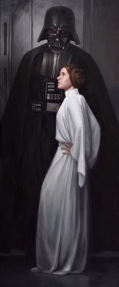 Death Vader and Princess Leia, Star Wars.