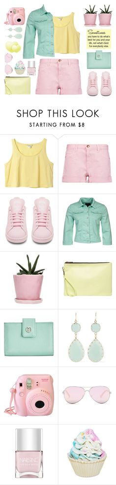 """inspired by ladykrystal"" by countrycousin ❤ liked on Polyvore featuring Monki, Current/Elliott, adidas, Sisley, Dot & Bo, Dorothy Perkins, Giani Bernini, Kenneth Jay Lane, Fujifilm and Kenneth Cole Reaction"