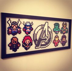 Avengers hama beads by PBoy-UK on deviantART
