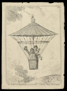 """The National Parachute, - or - John Bull conducted to Plenty and Emancipation""…"