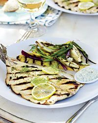 Grill Once: Grilled Trout with Lemon-Caper Mayonnaise - Grill Once ...