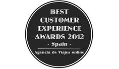 Best Customer Experience Awards, Spain 2012, Categoria Agencia de Viajes online