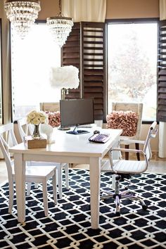 556 best GLAMOROUS OFFICES images on Pinterest | Home decor, House Glam Home Office Design Ideas on gold office ideas, blue office ideas, unique office ideas, cute office ideas, urban office ideas, dark office ideas, art office ideas, boho office ideas, vintage office ideas, classy office ideas, holiday office ideas, black office ideas, lounge office ideas, beautiful office ideas, red office ideas, sparkle office ideas, americana office ideas, halloween office ideas, elegant office ideas, green office ideas,