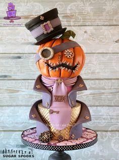 Cake Wrecks - Home - Sunday Sweets: Halloween Cuties! Halloween Torte, Pasteles Halloween, Bolo Halloween, Fete Halloween, Steampunk Halloween, Halloween Treats, Scary Halloween, Halloween Buffet, Disney Halloween