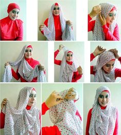 Looking for some new hijab styles? Here you will find all different styles so you can change your style as often as you like. Hijab is all about modesty but Tutorial Hijab Modern, Tutorial Hijab Pesta, Pashmina Hijab Tutorial, Turban Tutorial, Hijab Style Tutorial, Easy Hijab Style, New Hijab Style, Hijab Bride, Pakistani Wedding Dresses
