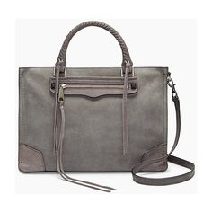 Rebecca Minkoff Regan Satchel Tote (19.725 RUB) ❤ liked on Polyvore featuring bags, handbags, tote bags, neutral and satchels