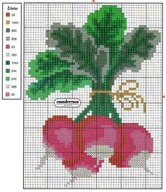 <3 Cross Stitch Fruit, Just Cross Stitch, Cross Stitch Borders, Cross Stitch Flowers, Cross Stitching, Embroidery Sampler, Cross Stitch Embroidery, Needlepoint Stitches, Needlework