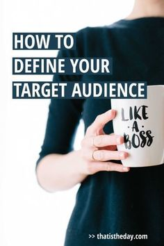 Stop! Your brand starts here. Before you even start creating a product or service, you have to know your target audience and how to attract them | thatistheday.com #TargetAudience