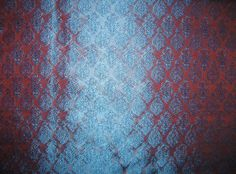 100% Pure Silk Brocade fabric Rust & Blue iridescent