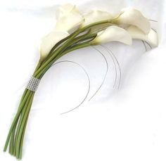 elegant wedding bouquets with cala lillies | Elegant Calla lily Real Touch Artificial Wedding Bouquet