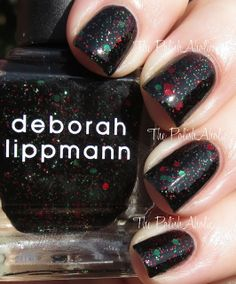 Deborah Lippmann Rockin' Around The Christmas Tree Funky Nail Art, Funky Nails, Black Nail Polish, Nail Polish Colors, Hair And Nails, My Nails, Jelly Nails, Pretty Birds, Holiday Wishes
