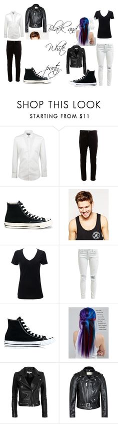 """""""black and white party"""" by alex-hayze on Polyvore featuring Dolce&Gabbana, Junya Watanabe Comme des Garçons, Converse, Toni&Guy, Manic Panic NYC, IRO and Schott NYC"""