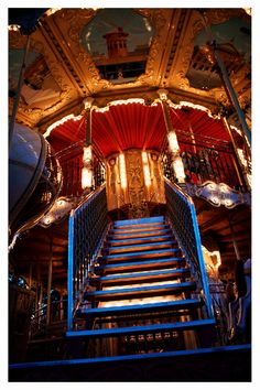 Carousel Stairs  carnival photography Paris wall by SonjaCaldwell, $25.00
