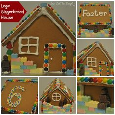 Sew Lah Tea Dough: Lego Gingerbread Houses . . . Not just for Christmas!