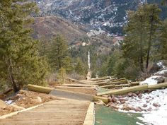 Here's footage of my run down Barr Trail after climbing to the top of the Manitou Incline in Manitou Springs, Colorado The video is twice the ac. Manitou Springs Incline, Manitou Springs Colorado, Cheyenne Mountain, Rainbow Falls, Visit Colorado, Hiking Spots, Atlas, Colorado Mountains, Aerial View