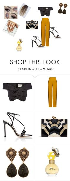 """Untitled #43"" by almasa96 ❤ liked on Polyvore featuring Johanna Ortiz, ADAM, Gianvito Rossi, KOTUR, Stephen Dweck and Marc Jacobs"