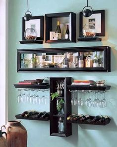 Adorning your perfect dwelling bar design. Contemplate your self fortunate should you've received your dwelling bar - it is an ideal social gathering . Vintage Bathroom Decor, Modern Bathroom Decor, Room Shelves, Display Shelves, Display Ideas, Home Bar Designs, Bars For Home, Home Decor, Bath Room