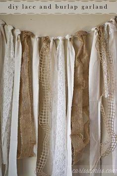 diy burlap and lace garland #DTCasualElegance #ad | Carissa Miss