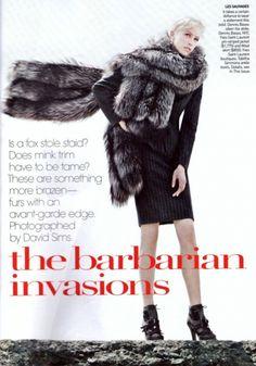 The Barbarian Invasions (American Vogue) Grace Coddington, Dennis Basso, Tabitha Simmons, Fitted Skirt, Barbarian, Angelina Jolie, Skort, Editorial Fashion, Yves Saint Laurent