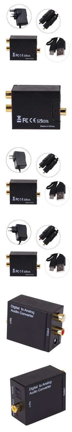 Digital Optical Coaxial Toslink Signal to Analog Audio Converter male to male Adapter RCA L/R audio UK/ EU/ US adapter