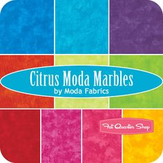 Citrus Moda Marbles Charm Pack SKU# 9880PP-13 - Fat Quarter Shop