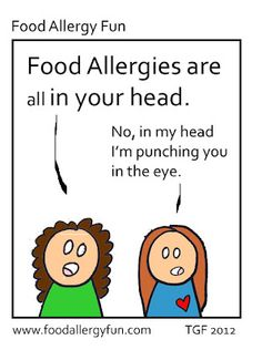 Punch You - Food Allergy Cartoon
