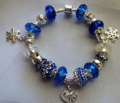 Blue and Silver Christmas A European Style by BlingItOutLoudCharms