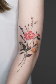 28 Gorgeous Wildflower Tattoos For Free Spirits