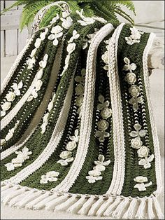Ravelry: Irish Lace & Roses Afghan pattern by Annie Potter .. #crochet_inspiration .....