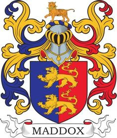 Maddox Family Crest and Coat of Arms