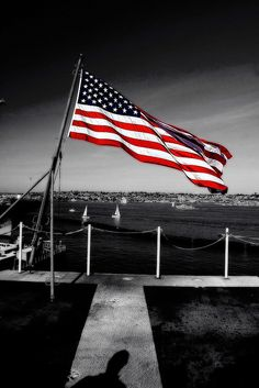 Color Splash + Selective Color + American Flag + Black and White + of July I Love America, God Bless America, North America, A Lovely Journey, Don Delillo, Independance Day, Let Freedom Ring, Home Of The Brave, Land Of The Free