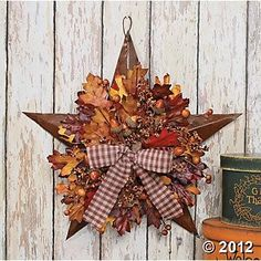 Autumn Leaves Barn Star / for the back deck wall