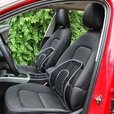 Set Of 2 Car Seat Massage Chair Back Lumbar Support Mesh Ventilate Cushion