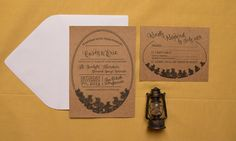 Rustic Camping Wedding Invitation