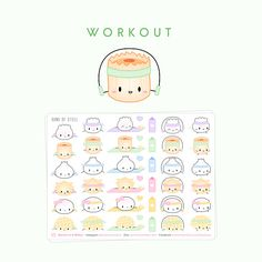 Hey, I found this really awesome Etsy listing at https://www.etsy.com/listing/386322788/dimsum-stickers-workout-workout-stickers