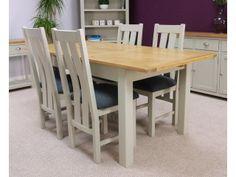Aspen Painted Oak Sage Grey Extending Dining Table
