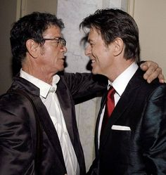 David Bowie and Lou Reed circa 2012