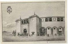 León, fotos antiguas, dibujo de la plaza de toros.