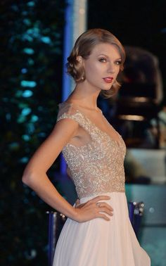 Taylor at the Winter Whites Gala